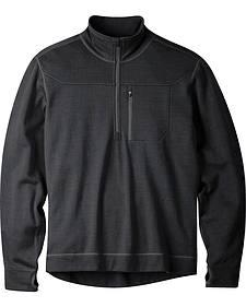 Mountain Khakis Black Rendezvous Quarter Zip Long Sleeve Shirt