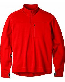Mountain Khakis Engine Red Rendezvous Quarter Zip Long Sleeve Shirt