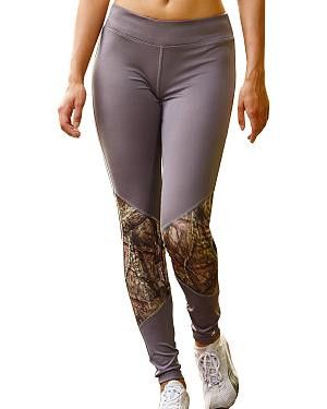 Wilderness Dreams Mossy Oak Break-Up Country Gunmetal Gray Active Tights