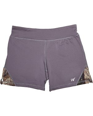 Wilderness Dreams Mossy Oak Break-Up Country Gunmetal Gray Active Shorts