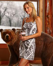 Wilderness Dreams Women's Naked North Snow Camo Nightgown