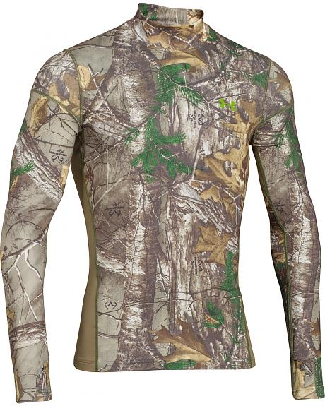 Under Armour Men's ColdGear Infrared Scent Control Camo Mock Top