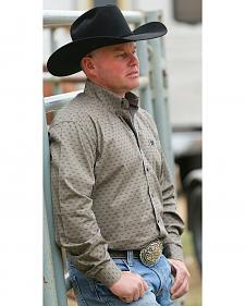 Cinch Men's Brown Antler Print Western Shirt
