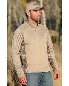 Cinch Men's 1/4 Zip Realtree Max 1 Poly-Tech Fleece Pullover