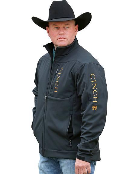 Cinch Men's Black and Gold Bonded Concealed Carry Jacket