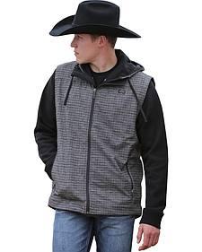Cinch Men's Grey and Black Bonded Vest
