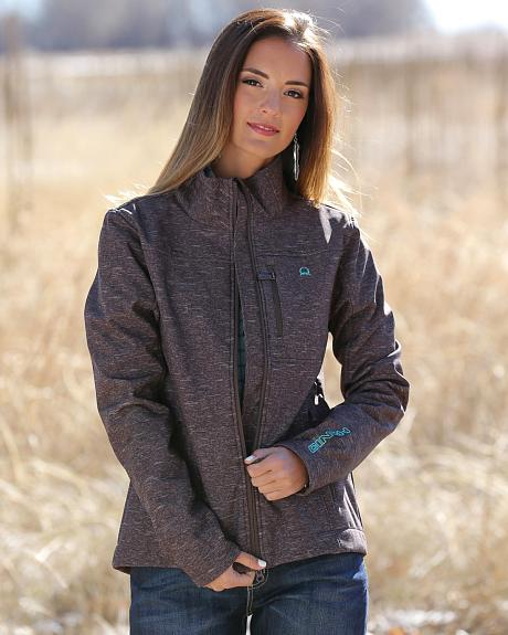 Cinch Women's Brown Bonded Fleece Jacket