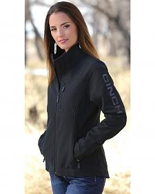 Cinch Women's Black Bonded Fleece Jacket