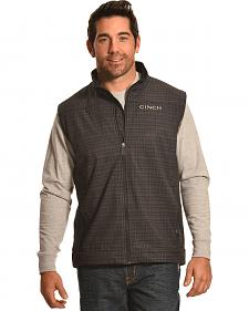 Cinch Men's Black and Gray Logo Bonded Vest