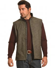 Cinch Men's Olive Bonded Softshell Vest
