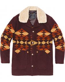 Pendleton Journey Jacquard Shearling Collar Coat