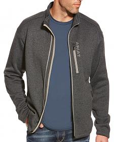 Ariat Men's Charcoal Caldwell Full Zip Sweater