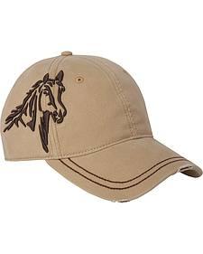Dri Duck Men's Khaki 3D Horse Cap
