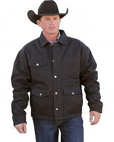 Cinch Men's Black Lined Canvas Ranch Coat