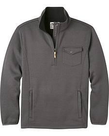 Mountain Khakis Men's Grey Old Faithful Quarter Zip Sweater