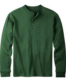 Mountain Khakis Men's Hunter Green Trapper Henley Shirt
