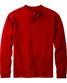 Mountain Khakis Men's Engine Red Trapper Henley Shirt