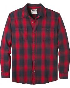 Mountain Khakis Men's Saloon Red Flannel Shirt