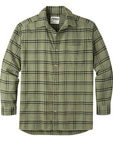 Mountain Khakis Men's Olive Drab Peden Plaid Shirt