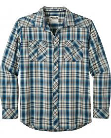 Mountain Khakis Men's Navy Plaid Rodeo Long Sleeve Shirt