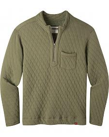 Mountain Khakis Men's Olive Drab Hideaway Pullover Sweater