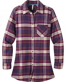 Mountain Khakis Purple Plaid Penny Tunic Shirt