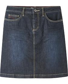 Mountain Khakis Women's Dark Wash Genevieve Denim Skirt