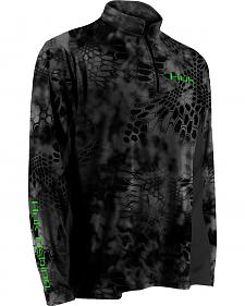 Huk Men's Grey Kryptek ICON 1/4 Zip Top