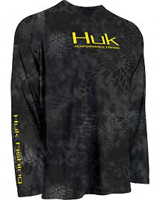 Huk Performance Fishing Kryptek Raglan Long Sleeve Shirt