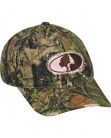 Mossy Oak Ladies Frayed Camo Cap