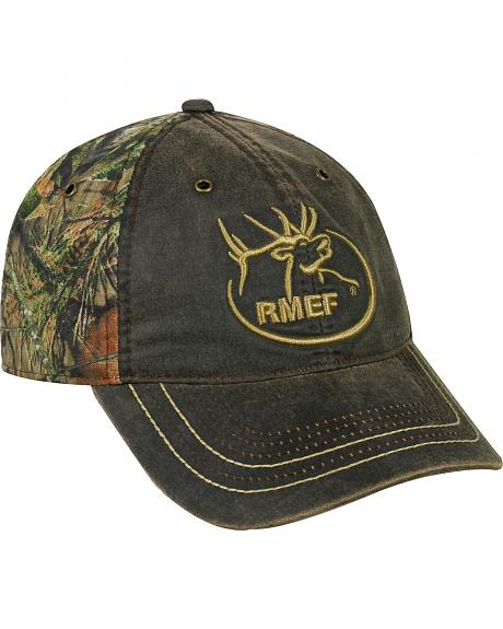 Rocky Mountain Elk Foundation Weathered Camo Cap