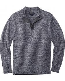 Pendleton Men's Black Marl Button-Henley Sweater