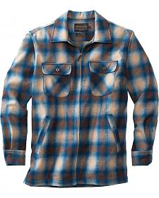 Pendleton Men's Tan and Blue Brightwood Zip Jacket
