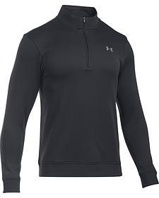 Under Armour Men's Black Storm Sweater Fleece 1/4 Zip Pullover