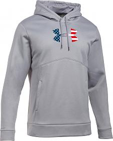 Under Armour Men's Grey Big Flag Logo Icon Hoodie