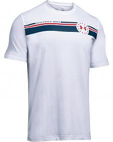 Under Armour Men's White 4th of July T-Shirt