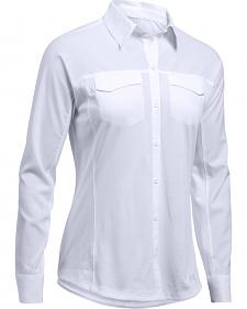 Under Armour Women's White Tide Chaser Hybrid Shirt