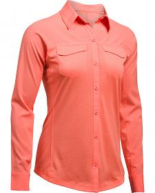 Under Armour Women's Orange Tide Chaser Hybrid Shirt