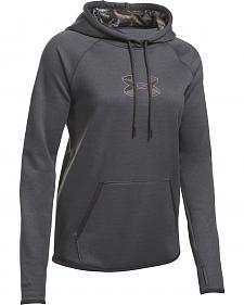 Under Armour Women's Charcoal Grey Caliber Hoodie