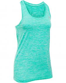 Under Armour Women's Light Green Tech? Twist Tank Top