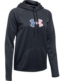 Under Armour Women's Black Big Flag Logo Tactical Hoodie