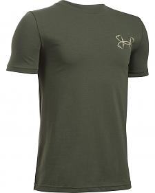 Under Armour Boy's Green Big Mouth Strike T-Shirt