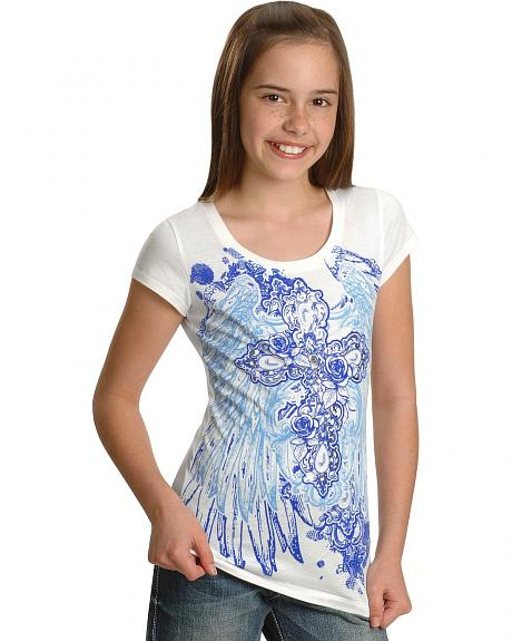 Wrangler Rock 47 Girls' Cross Graphic Tee - 6-12
