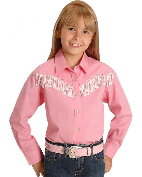 Cumberland Outfitters Girls' Fringe Western Shirt - 4-16