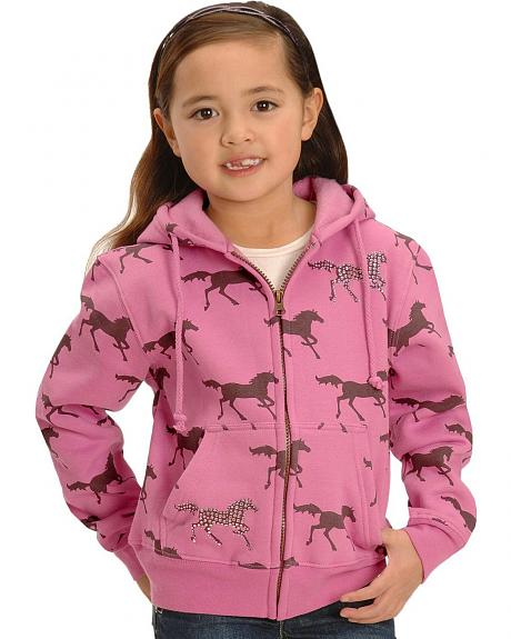 Toddler Girls' Pink & Plum Horse Horse Hoodie - 2T-4T