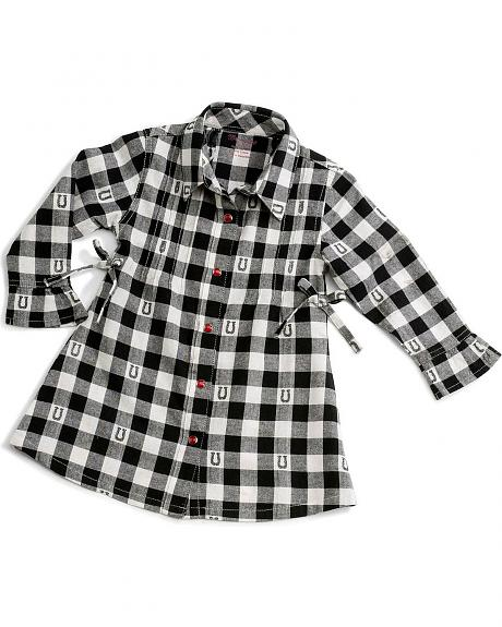 Wrangler Infant Girls' Buffalo Check Dress - 6-18 Months