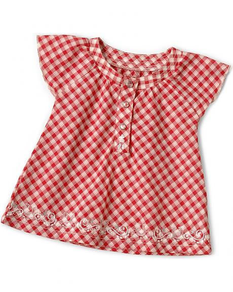 Wrangler Infant Girls' Gingham Plaid Dress - 6-18 Months