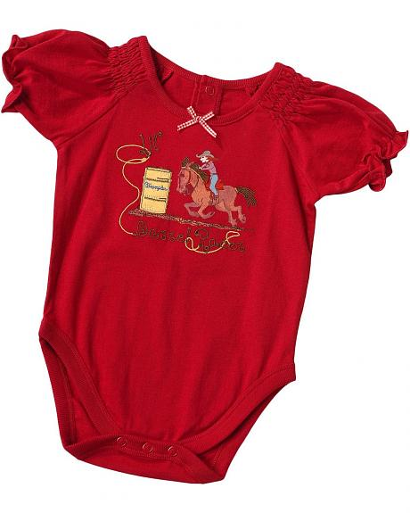 Wrangler Infant Girls' Barrel Racer Bodysuit - 6-18 Months