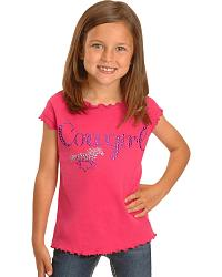 Cowgirl Hardware Cowgirl & Horse Tee - 2T-4T at Sheplers
