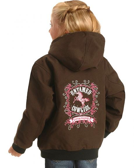 Cowgirl Hardware Girls' Untamed Cowgirl Embroidered Horse Jacket - 5-16